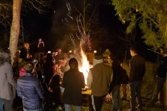 All the students enjoy Novruz party. It is an Azerbajan holiday to welcome spring. It's celebrated with jumps over the fire as symbol of rebirth.